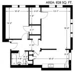 Roy Vue 828 sq. ft.