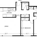 Corner House 1052 sq. ft.