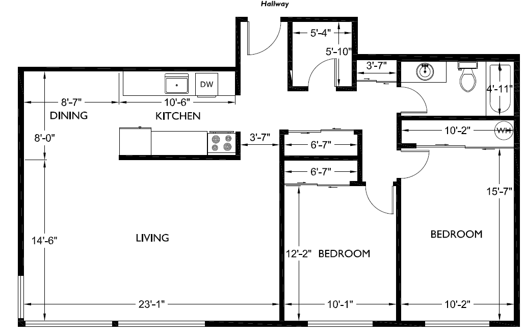 Corner house floorplans 2 bedroom 1 bathroom alliance for 2 bedroom 1 bath house floor plans