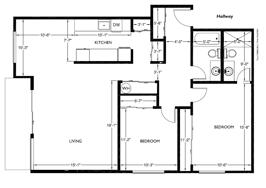 Corner House Floorplans 2 Bedroom 2 Bathroom 187 Alliance