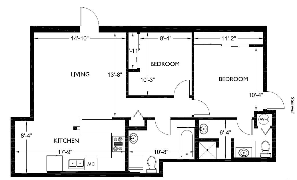 8 12 Bathroom Floor Plans: 2 Bedroom 2 Bathroom » Alliance