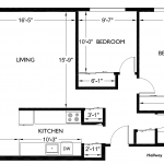 Corner House 896 sq. ft.