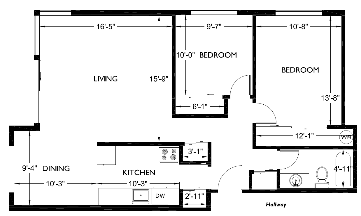 Corner house floorplans 2 bedroom 1 bathroom alliance Floor plans for my house