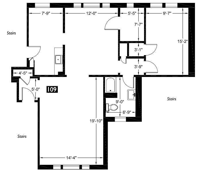 109 Floor plan